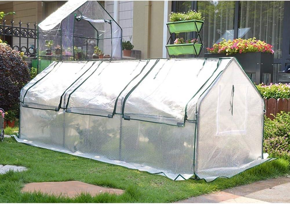 LDIW Invernadero para Jardín Mini Invernadero PE para Cultivo de Plantas para Jardín,Blanco,270x88x90cm: Amazon.es: Hogar