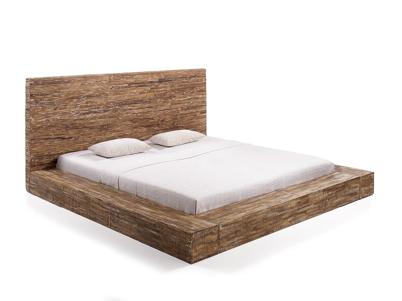 massivum Bett Stripe 180x200cm Palisander braun gewachst: Amazon.de ...