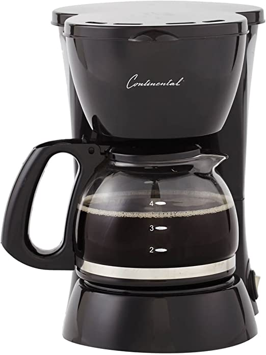 Amazon.com: Continental 4-Cup, cafetera, eléctrica, color ...