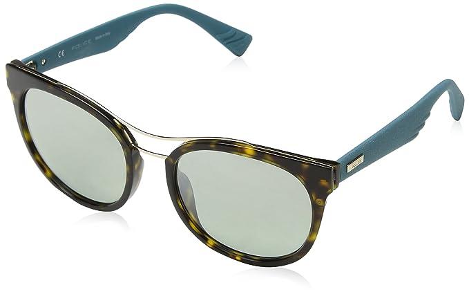 Police Sunglasses Damen Sonnenbrille Sparkle 3, Mehrfarbig (Shiny Dark Havana), 45