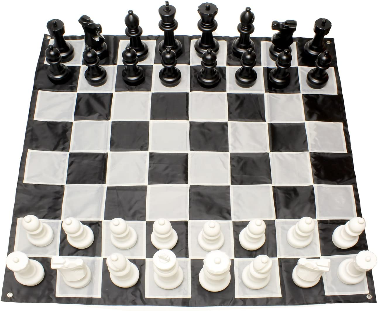 Get Out! Giant Chess Set Outdoor Games for Family Lawn Games – Large Chess Pieces & 5x5ft Giant Chess Board