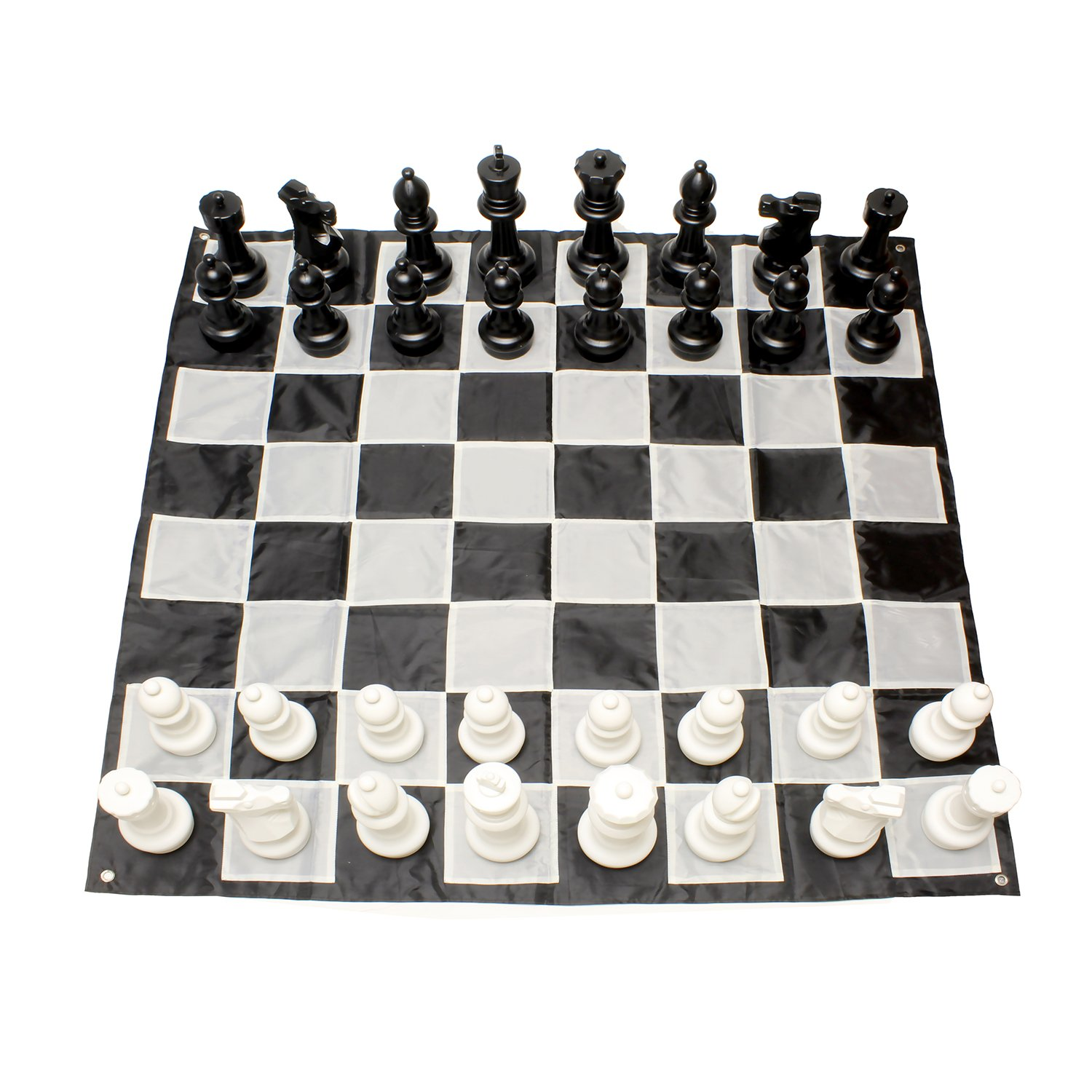 Get Out! | Giant Chess Set Outdoor Games for Family Lawn Games – Large Chess Pieces & 5x5' Ft Giant Chess Board