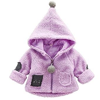 Baby Cute con capucha abrigo perchero, todaies - Abrigo niña otoño invierno abrigo Boy con capucha chaqueta de algodón grueso cálido Outwear Ropa: Todaies: ...
