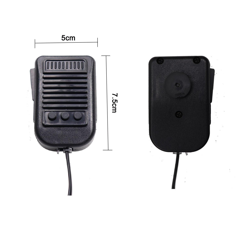 Dv12/V Electronic Sir/ène durgence Haut-parleur avec micro main PA Syst/ème de haut-parleurs durgence amplificateur de son Yhaavale 50/W 3/tons de voiture sir/ène Corne Haut-parleur