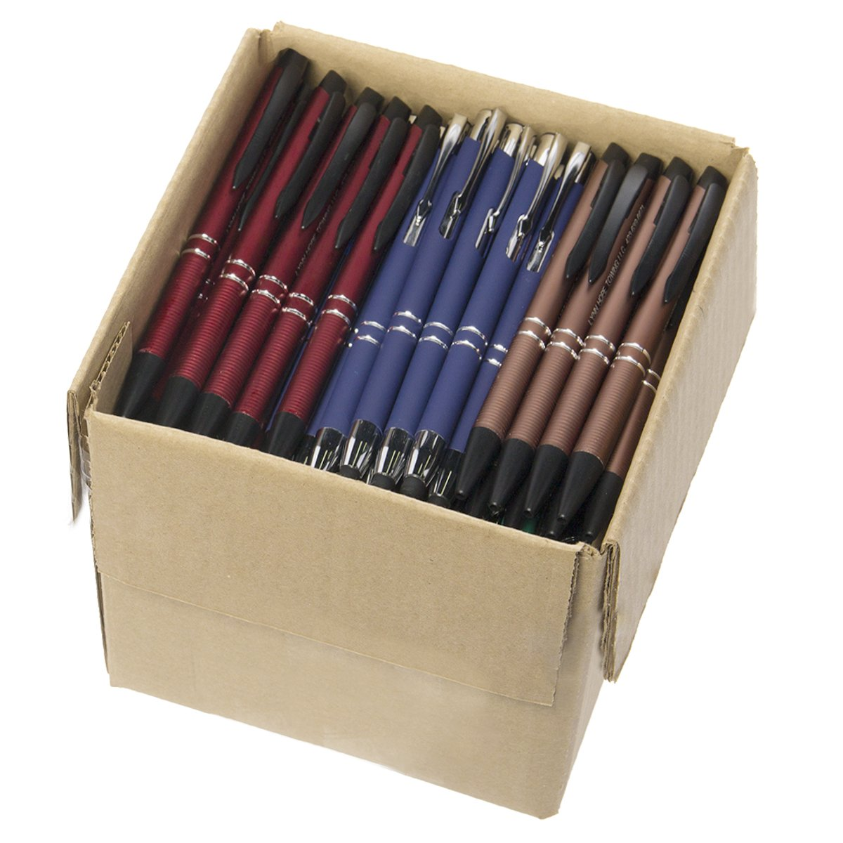 5lb Box Of Assorted Misprint Ink Pens Bulk Ballpoint Pens Retractable Metal Lot Wholesale by Unknown