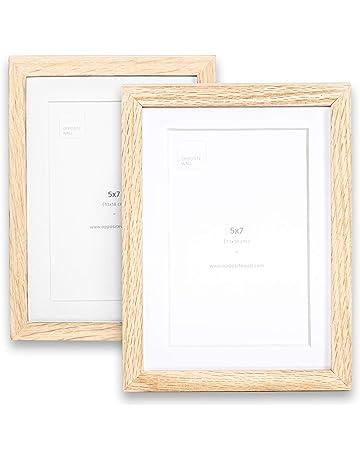 4 Pack 11.80 x 15.75 inches Imaginus Black MDF Wood Frames 30 x 40 cm