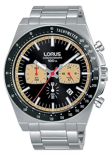 Lorus Reloj Cronografo para Hombre de Cuarzo con Correa en Acero Inoxidable RT351GX9: Amazon.es: Relojes