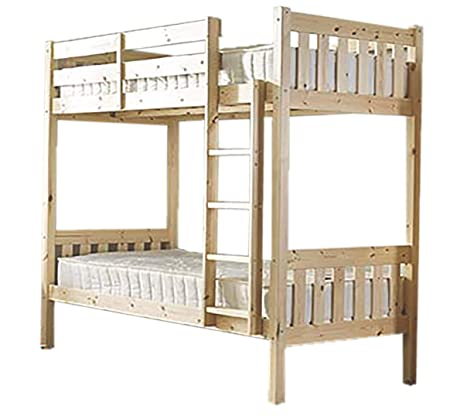 Short Bunkbed 2ft6 X 5 Ft 9 Small Single Natural Pine Bunk Bed With