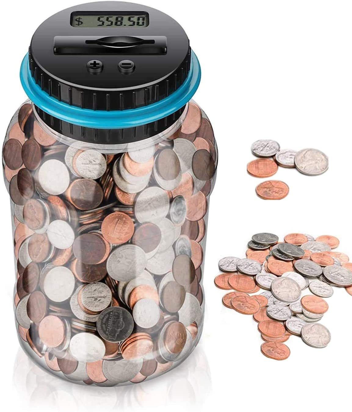Tradewinds Coin Counting Jar with Digital LCD Display