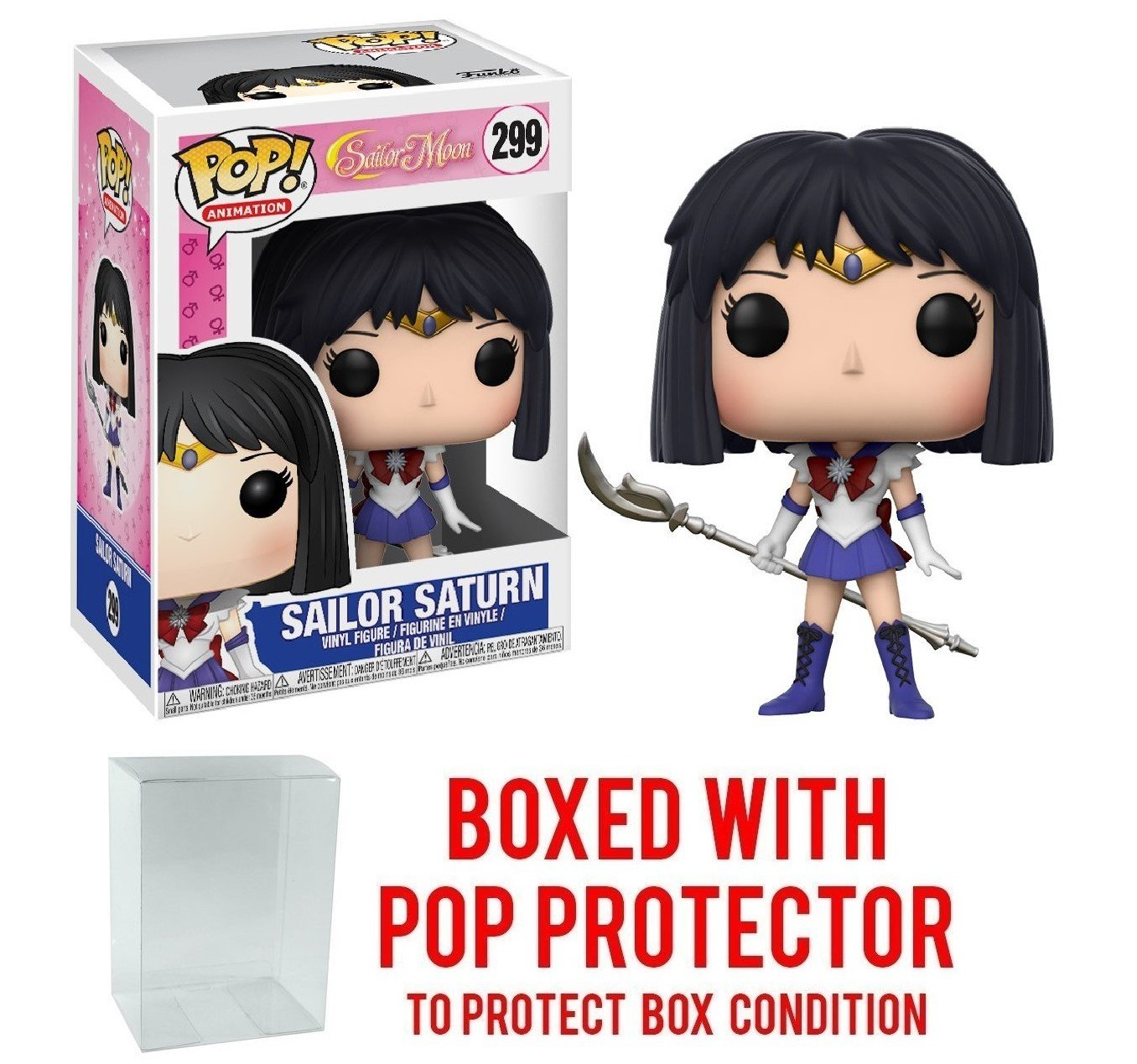 Bundled with Pop BOX PROTECTOR CASE Sailor Saturn Vinyl Figure Funko Pop Anime: Sailor Moon
