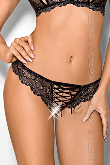 ecd974bfcfd2 Axami V-7755 Bonbon Women's Lacy Thong Sheer Patterned Open Crotch - Made  In EU: Amazon.co.uk: Health & Personal Care