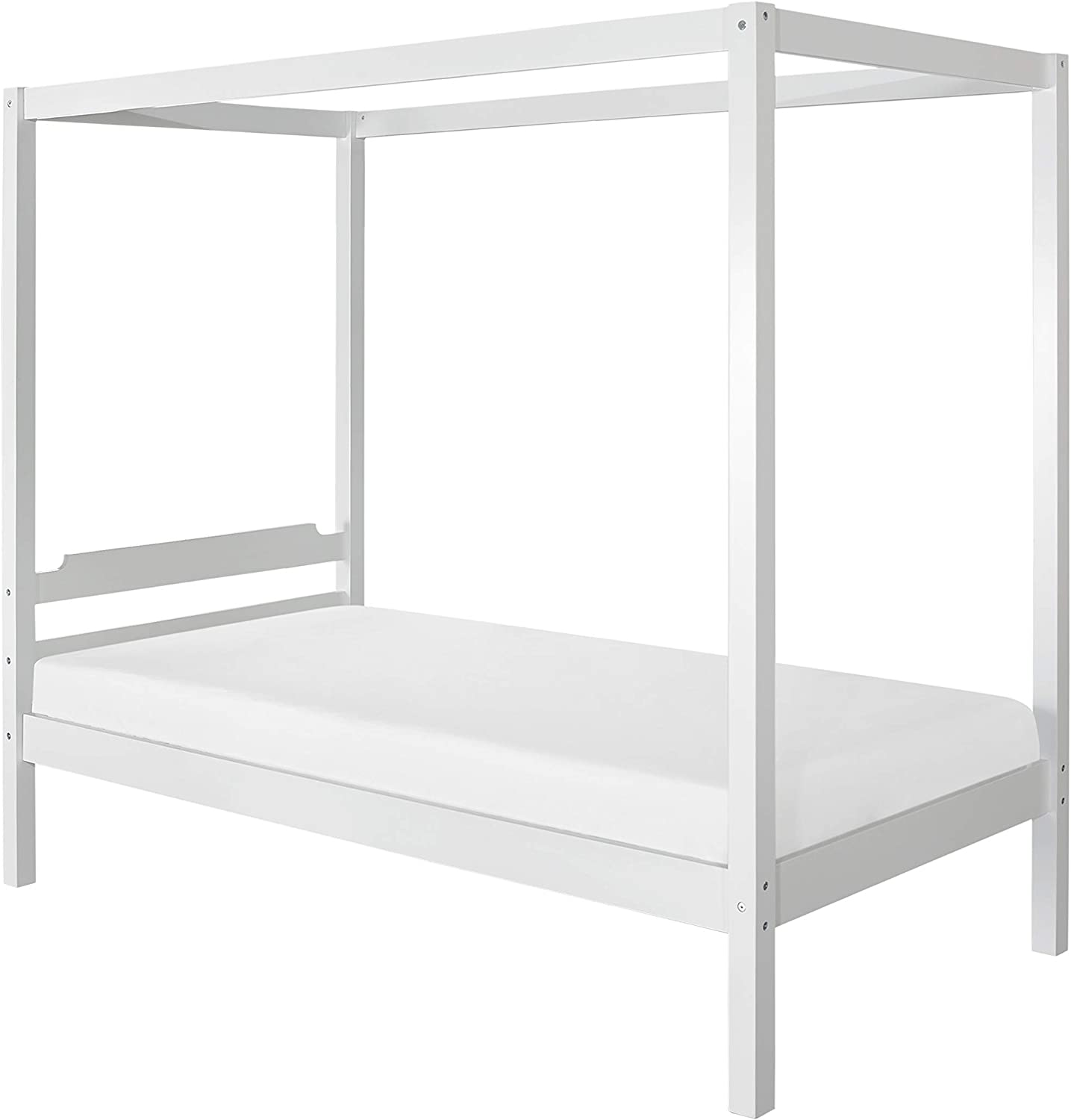- Amazon.com: Hillsdale Furniture Sutton Canopy Bed, Twin, White