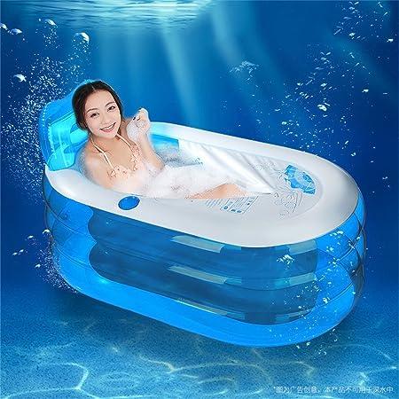 Folding Bathtub Bañera Hinchable portátil Plegable de plástico ...
