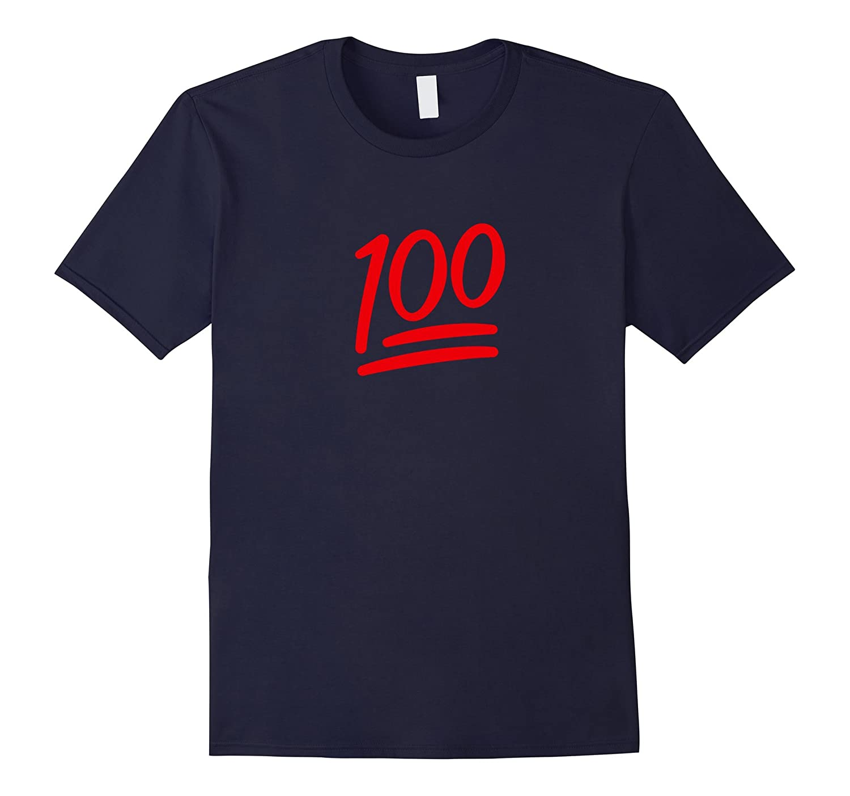 100 Emoji Shirt Red 100 Tee