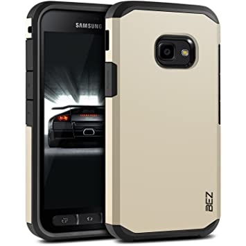 new concept a37b6 98231 BEZ Case for Xcover 4 Case, Shockproof Cover Compatible with Samsung Galaxy  Xcover 4, Shock Absorbing, Heavy Duty Dual Layer Tough Cover, Gold