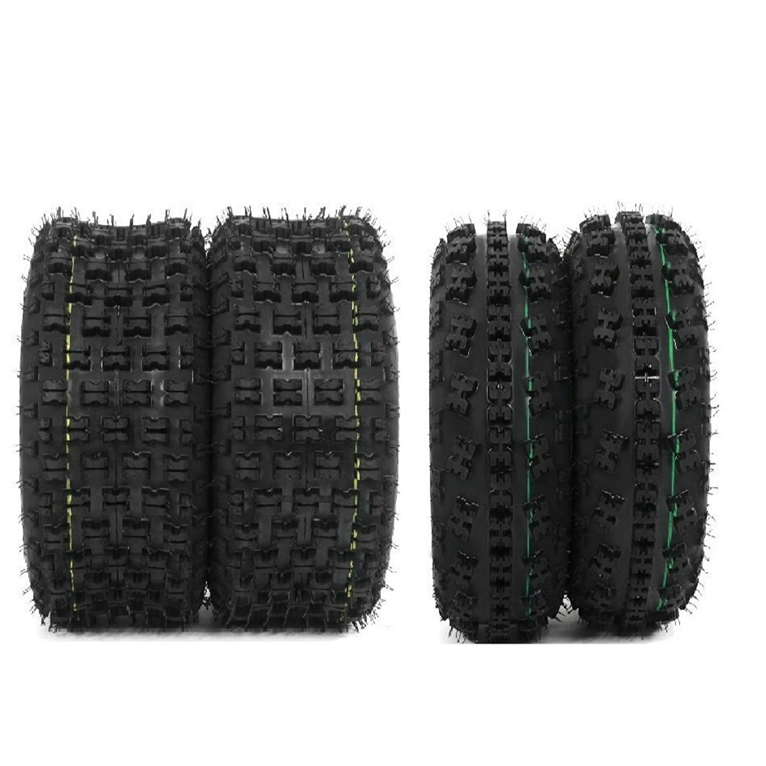 Set of 4 New Sport ATV Tires 21x7-10 Front & 20x10-9 Rear /4PR - P348