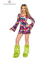 J Valentine Women's Happy Hippie Dress Costume