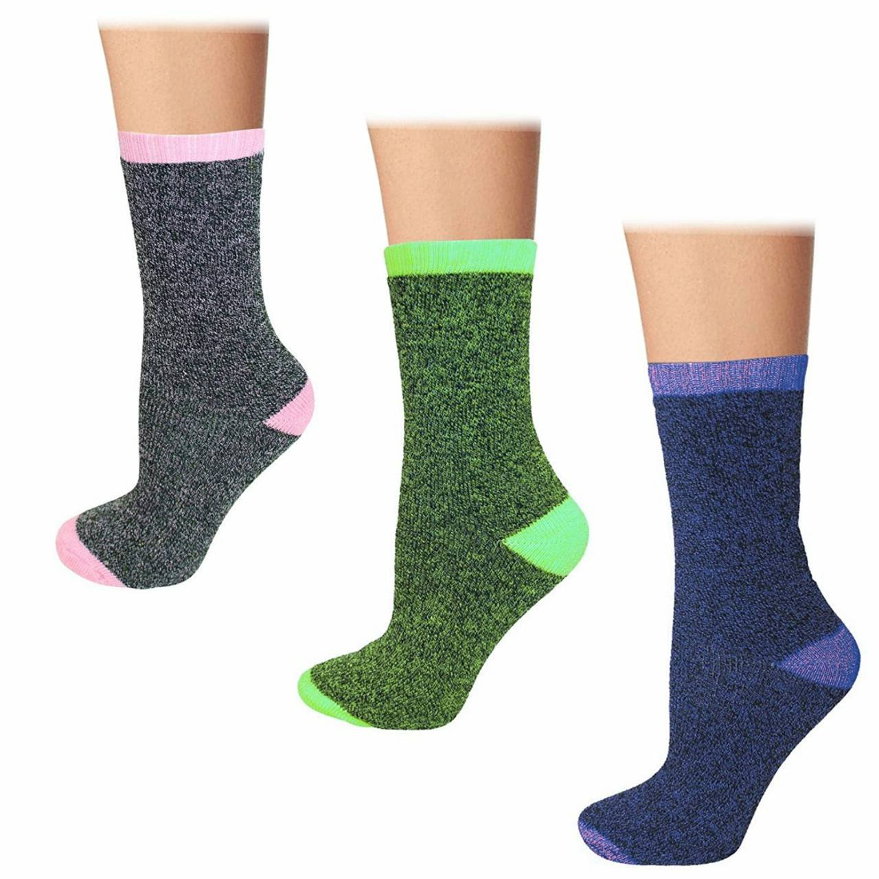 Womens Heated Thermal Insulated Winter Sox Thermal Socks (3 Pair)