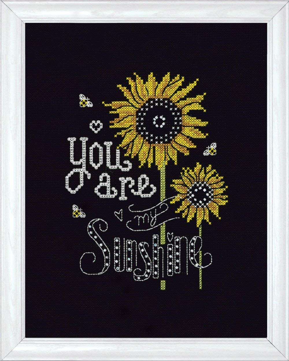 Design Works Crafts 2889 Sunshine Chalkboard Counted Cross Stitch Kit, 8 by 10 8 by 10 Inc.
