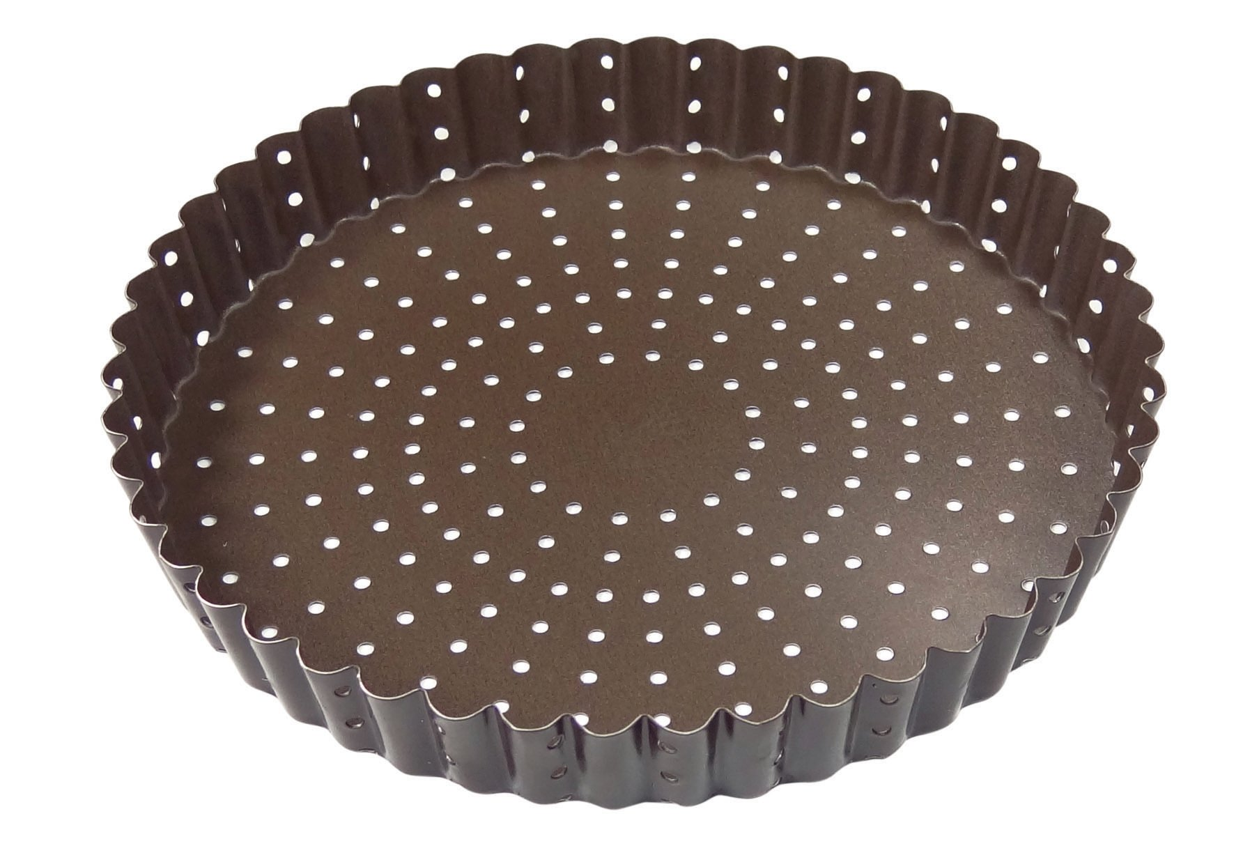 Paderno World Cuisine A4982316 Non-Stick Perforated Tart Pan, Brown by Paderno World Cuisine (Image #1)