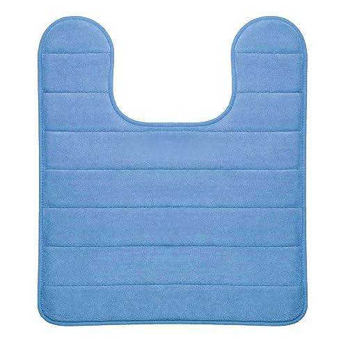 Hydrodry Sky Blue Ultimate Performance Memory Foam Pedestal Mat, 50 x 50 cm Anti Slip