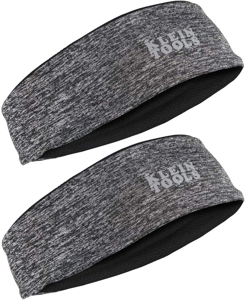 Klein Tools 60182 Cooling Headband, Evaporative Sweatband that Stays Cool when Activated, 2-Pack