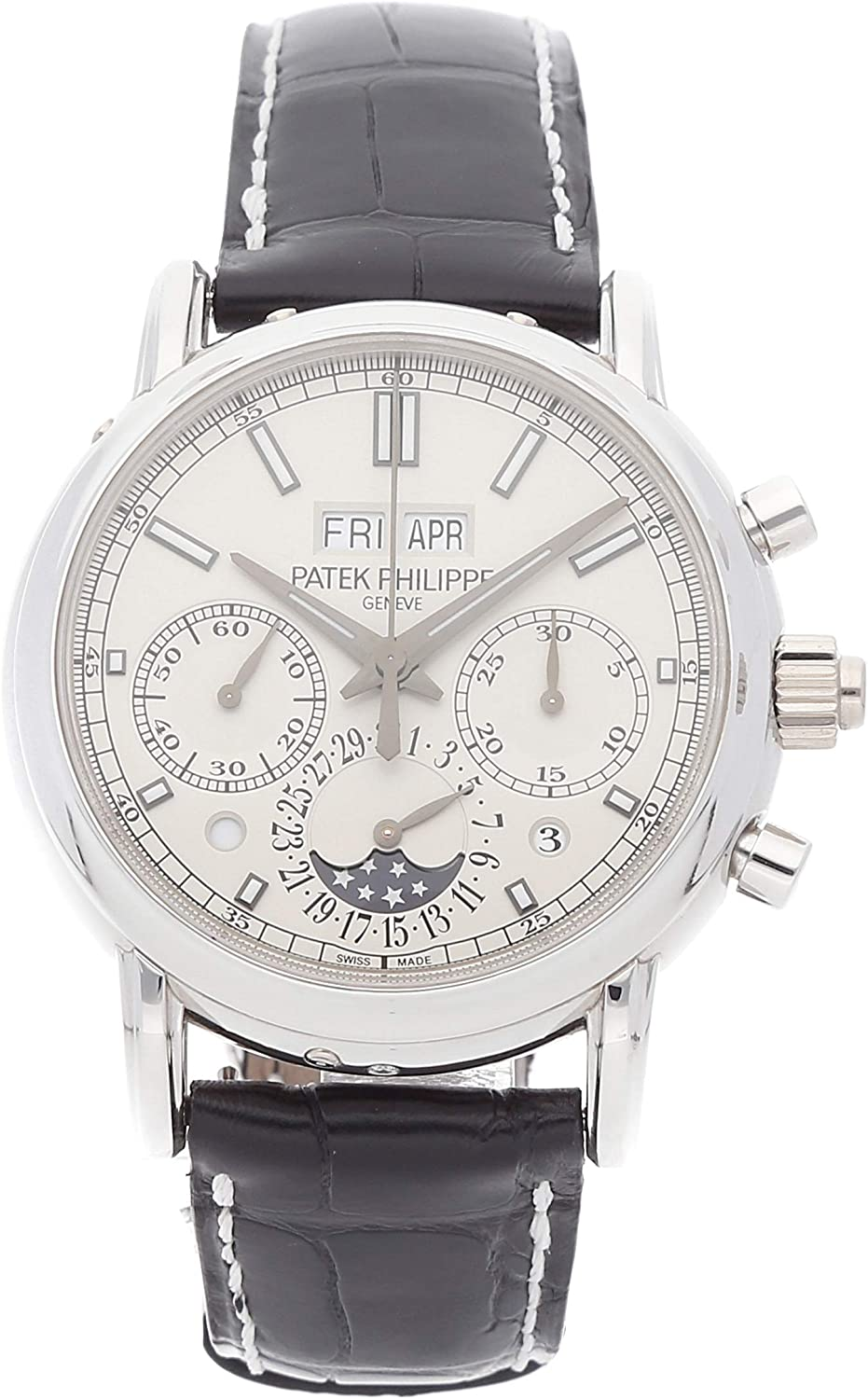 Patek Philippe Grand Complications Mechanical (Hand-Winding) Silver Dial Mens Watch 5204P-001 (Certified Pre-Owned)
