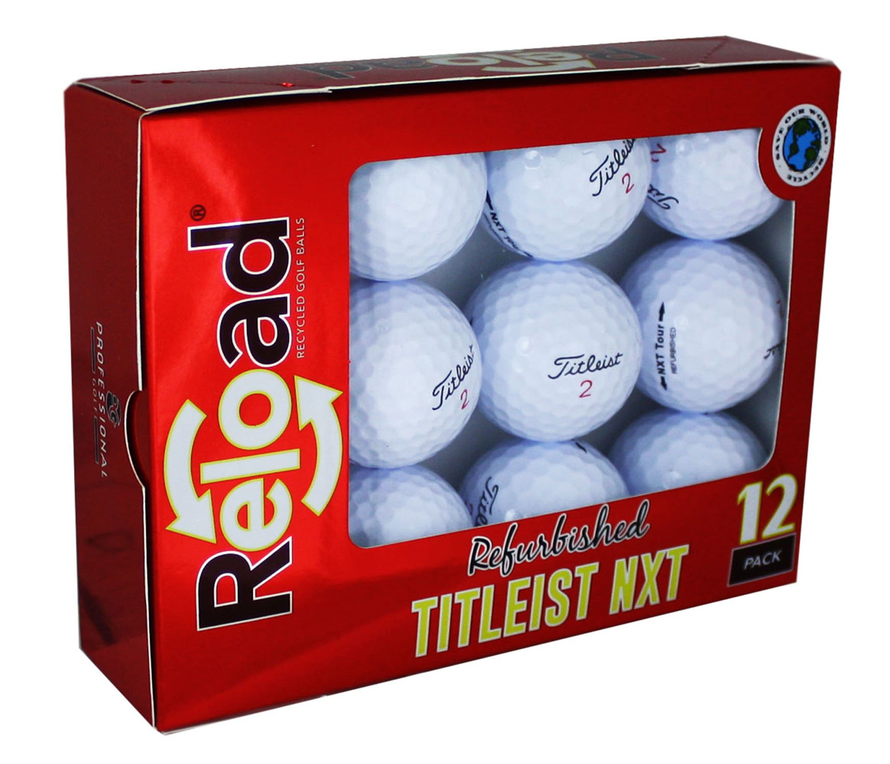 Titleist NXT Tour Refinished Golf Balls (One Dozen) Packaging May Vary