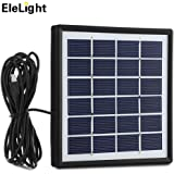 EleLight 720LM E27 Solar LED Light Bulb, 12W Portable Rechargeable Lights Lamp for Indoor & Outdoor