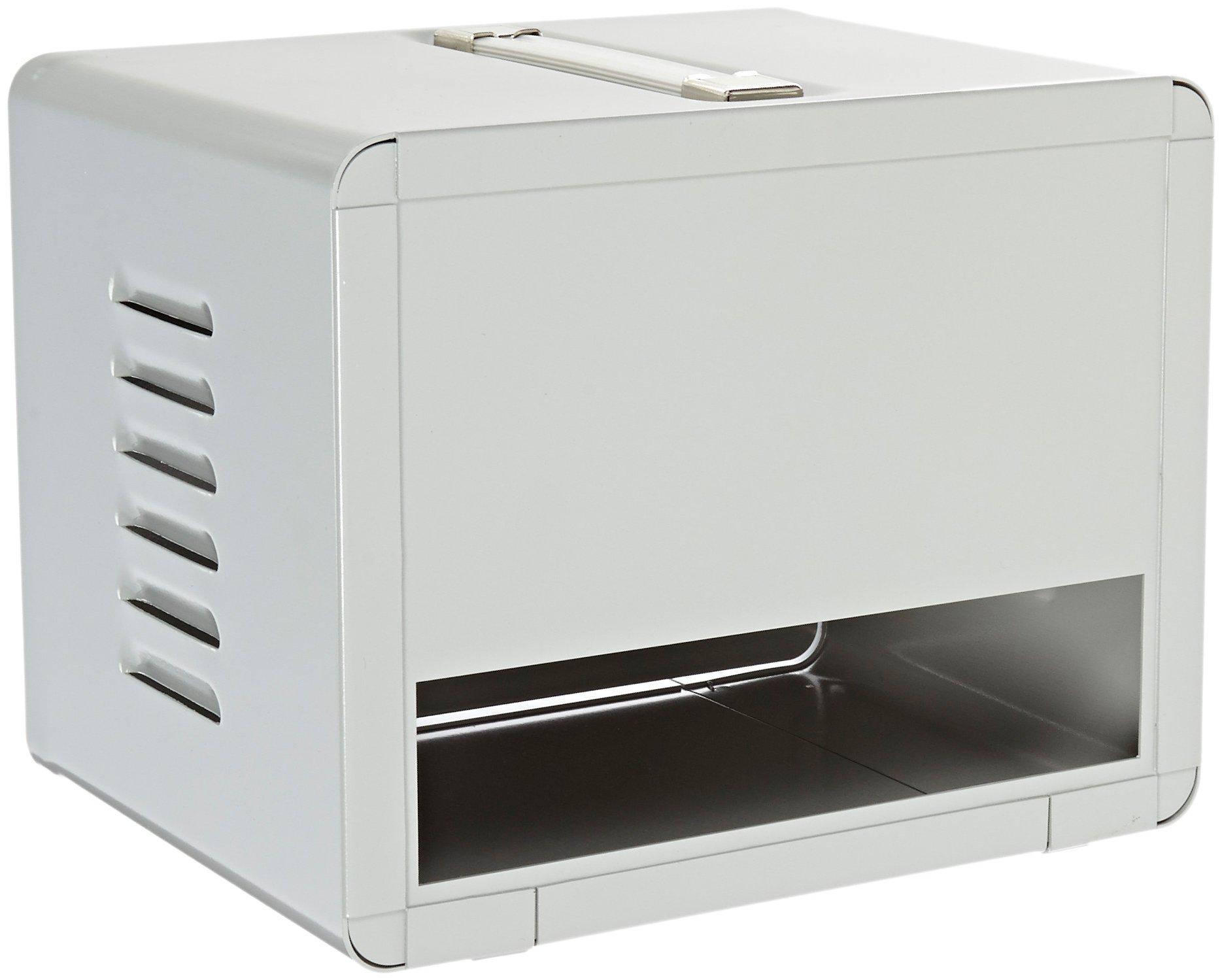 BUD Industries WA-1542 Aluminum Portacabs Small Metal Electronics Enclosure, 10-1/8'' Width x 8'' Height x 8'' Depth, Metallic Gray Finish