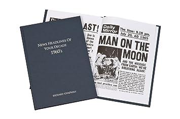 Buch Geschenk Weihnachten.Personalisierbar 1960 Jahrzehnt Zeitung Buch Geschenk Für 50