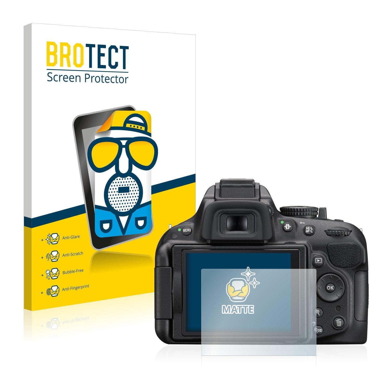 Anti-Reflejos 2 Unidades BROTECT Protector Pantalla Mate para Nikon D5200