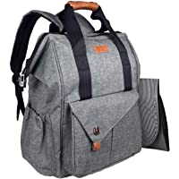 HapTim Baby Diaper Bag Backpack with Stroller Straps/Free Changing Pad