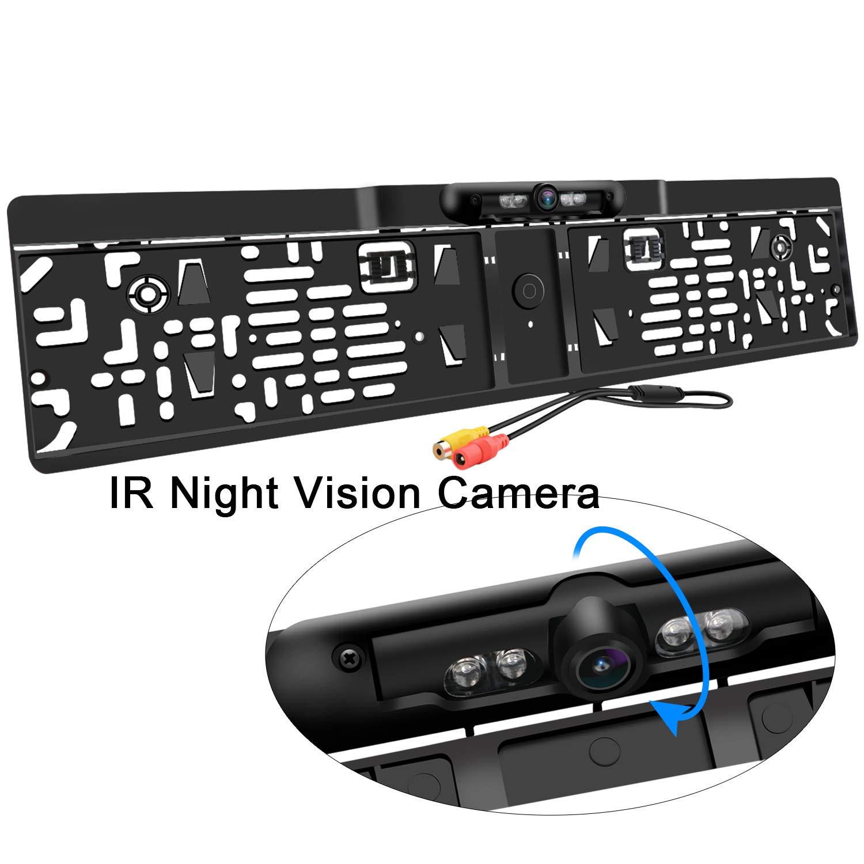 【激安大特価!】  車のナンバープレート車の夜間視界の背面図のカメラ背面図防水170°視野角を逆転させる4つのIRが付いているバックアップカメラをバックアップすることは完全な夜間視界とつきます B07KCVBFBG, TOKI ポケットチーフ:0aa2b316 --- arianechie.dominiotemporario.com