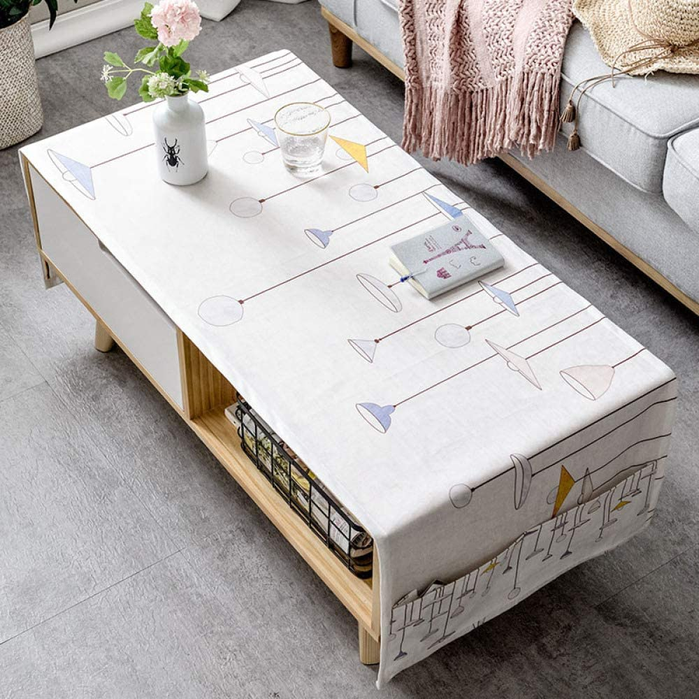 LYDCX Mesa De Centro Moderna Simple Mantel Sala De Estar Rectangular TV Gabinete Paño Tela Algodón Blanco 60X160Cm: Amazon.es: Hogar