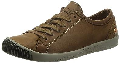 Softinos Damen Isla Smooth Sneaker, Blau (Navy), 37 EU
