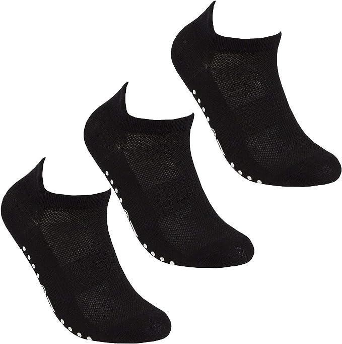 Ladies Cotton Trainer Liner Ankle Sports Black Plain Socks