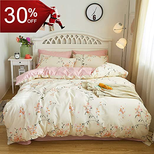 5 Piece Bed In A Bag Duvet Cover Set Modern Rose Pink King Size Free P/&P