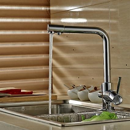 Auralum Water Purifier Commercial Kitchen Faucet 360 Degree Swivel ...