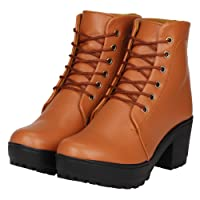 FASHIMO Women's Leather Ankle Length Boots