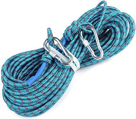 HPDOD Cuerda de Escalada de 8 mm * 20 m, Equipo de montañismo ...