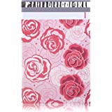 #4 10x13 Red and Pink Roses Designer Poly Mailers Shipping Envelopes Boutique Custom Bags 2.35MIL by Mailer Plus 100pcs