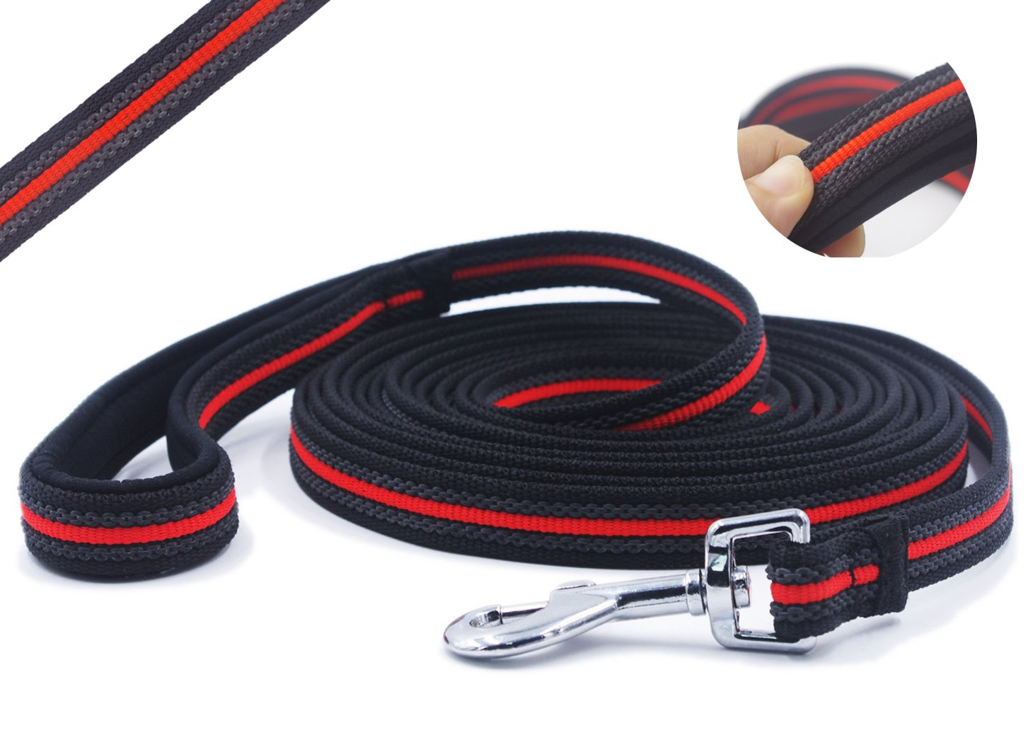 15ft YOOGAO Pet Long Dog Training Leash, Long Leash with Special Non-Slip Design and Padded Handle, 15 ft, for Any Szie of Dogs
