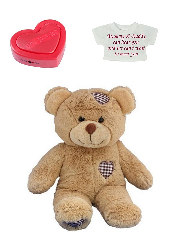 b9805ec278d Baby Heartbeat Personalised Teddy Bears - 3d 4d Doppler Scan Pregnancy Bear  (Brown Bear)  Amazon.co.uk  Baby