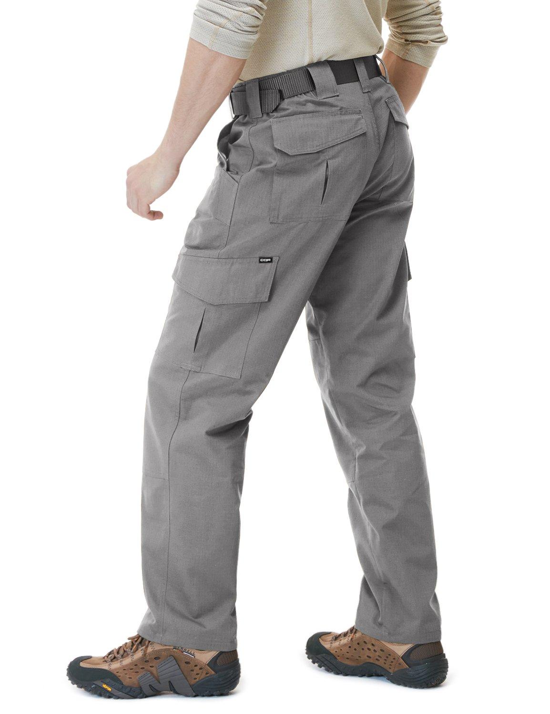 CQR Mens Tactical Pants Lightweight EDC Assault Cargo TLP105 Tesla Gears