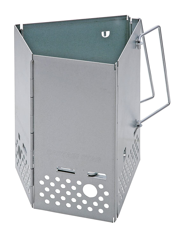 キャプテンスタッグ バーベキュー用 火起こし器大 炭焼き名人 M-6639