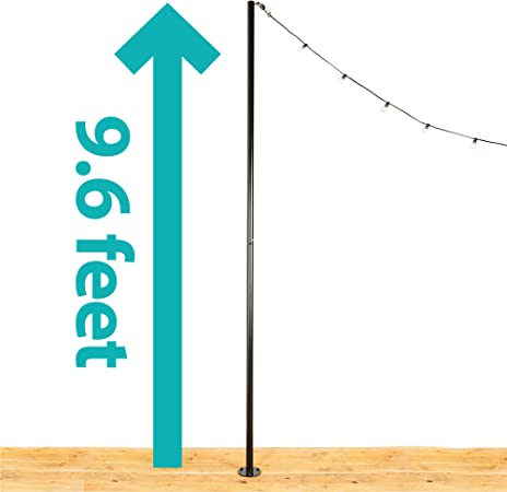Amazon Com Iyn Stands Outdoor String Light Pole Stand 9 6 Ft