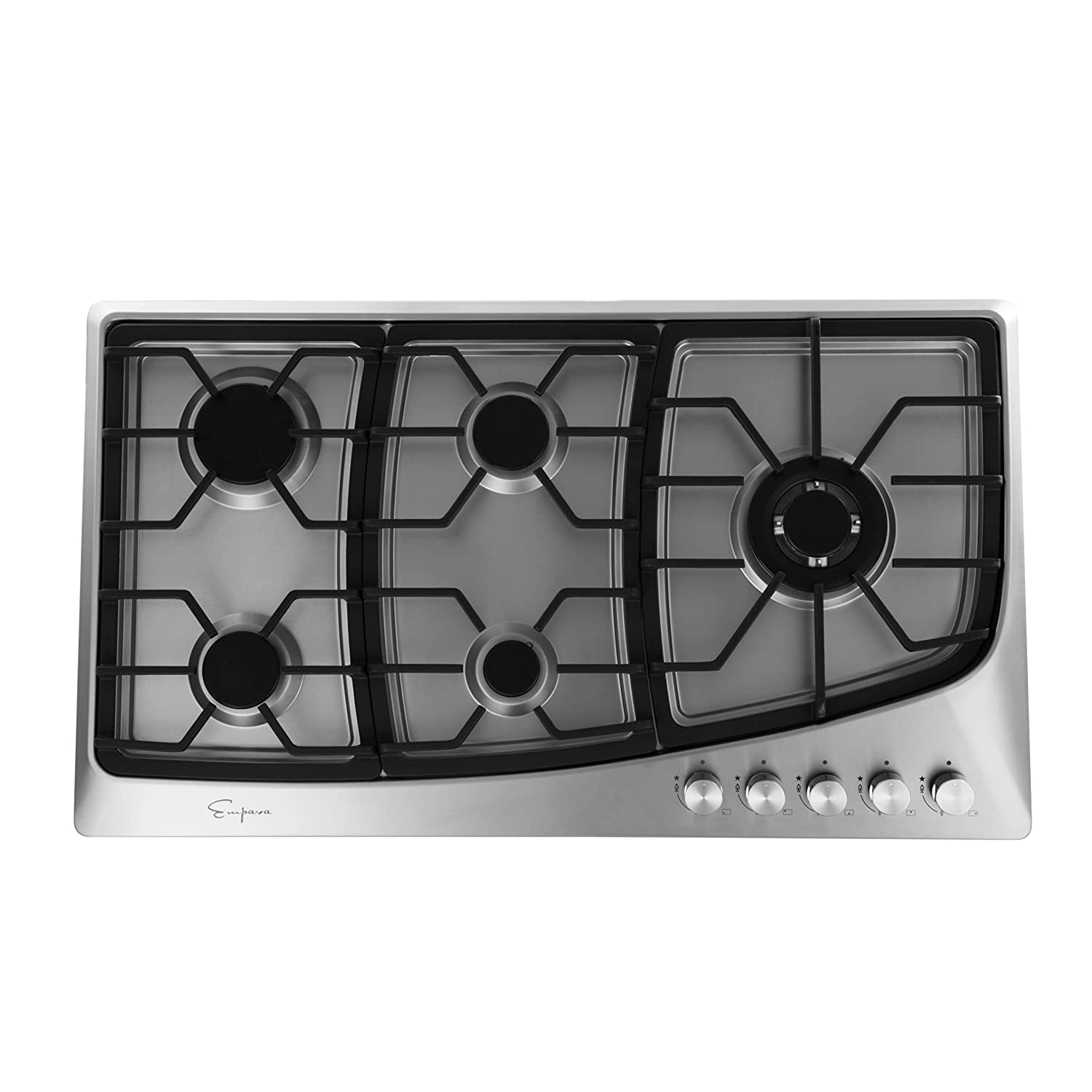 Empava 36' 5 Italy Sabaf Burners Stove Top Gas Cooktop Stainless Steel LPG/NG Convertible EMPV-36GC901