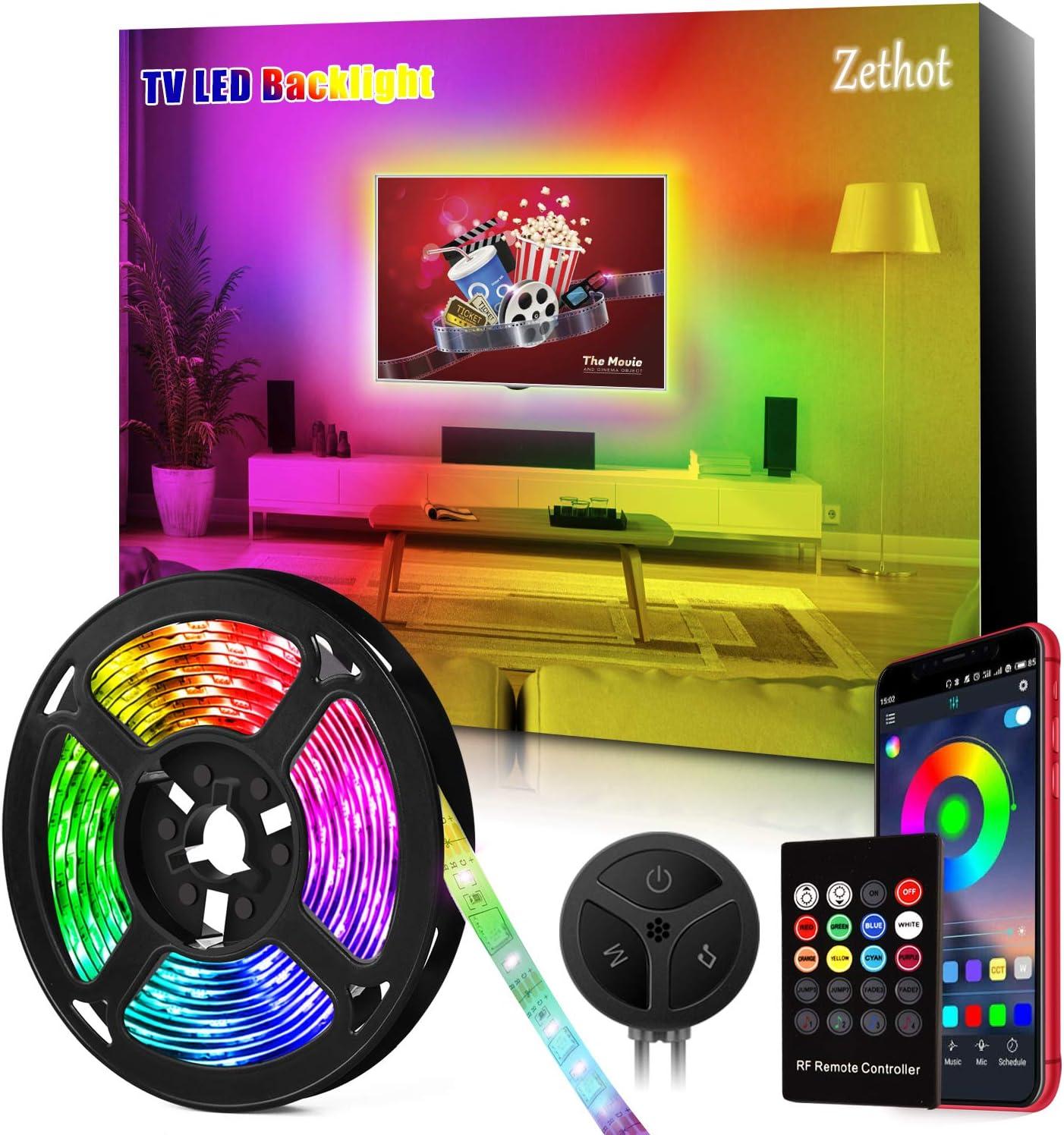 Tira LED TV de 11.5 pies(3.5M), sincronización de control ...