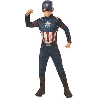 Rubie's Marvel: Avengers Endgame Child's Captain America Costume & Mask, Medium: Toys & Games
